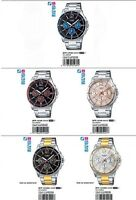 Casio Mens Chronograph Steel Watch Day/Date 50M MTP1374D Choice of 4 UK SELLER