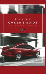 2012 ford focus owners manual user guide ebay rh ebay co uk 2012 ford focus factory service manual 2012 ford focus sel service manual