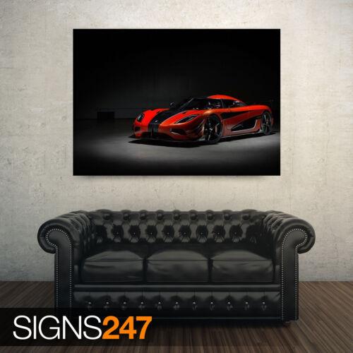 9033 2016 KOENIGSEGG AGERA FINAL Poster Print Art A0 A1 A2 A3 A4 Car Poster