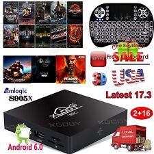 XGODY 4K Android 6.0 TV BOX X96 Latest 17.3 S905X Quad core 2+16G+ Keyboard I8