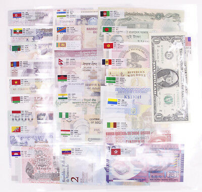 WORLD BANKNOTES LOT SET 20 PCS ALL FROM DIFFERENT 20 COUNTRIES # 1 UNC