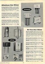 1953 ADVERT Rittenhouse Sentinel Door Chimes Nutone Symphonic