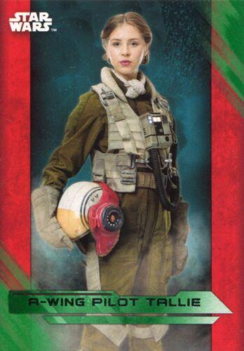 Star Wars Last Jedi Green Parallel Base Card #49 A-wing Pilot Tallie