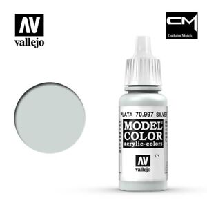 Vallejo-Model-Color-Metallic-Silver-70-997-171-17ml-Acrylic-Paint