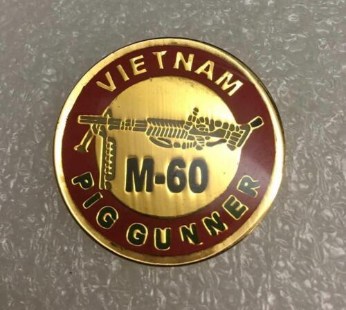 US ARMY MARINES VIETNAM M-60 PIG GUNNER PIN