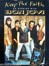 "BON JOVI ""KEEP THE FAITH - AN EVENING WITH BON JOVI"" U.K. VIDEO PROMO POSTER"