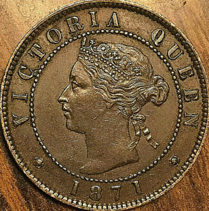 1871-PEI-LARGE-1-CENT-PENNY-COIN-Fantastic-example