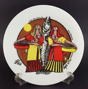 ER-Tagle-Philippines-Positivism-Mother-Child-Plate-1991-Fish-B-With-Us-LE