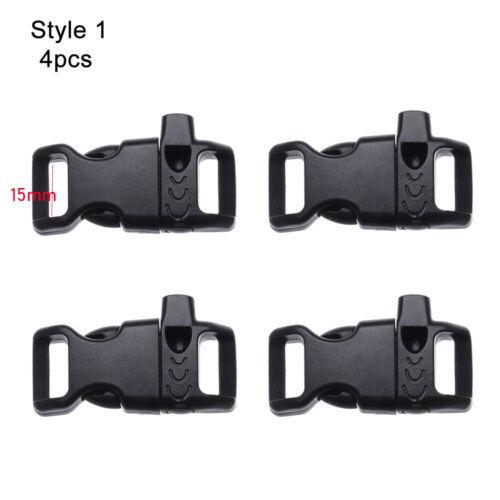 Release Buckle Bracelet Strap Survival Whistle Buckles Paracord Accessories