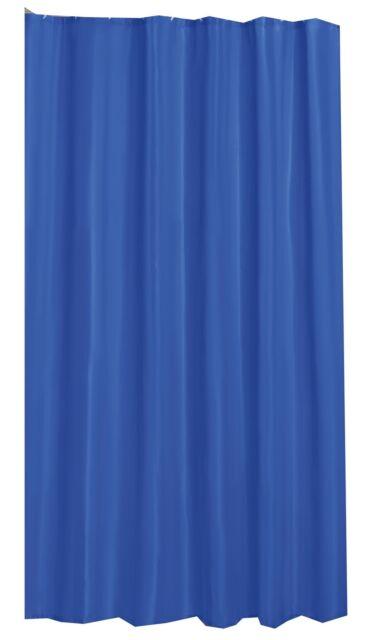 PLAIN ROYAL BLUE SHOWER CURTAIN 180CM X WITH HOOKS