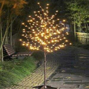 Led Lights Cherry Blossom Flower Tree 6 Ft Indoor Outdoor Decoration Warm White Ebay
