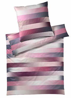 Bettwäsche FäHig Joop Bettwäschegarnituren Bettwäsche Flow Berry Rosa Pink 4078 01 Streifen Gestreift Mako Satin