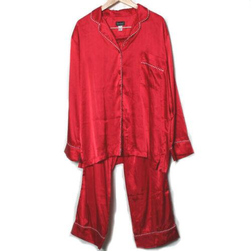 The Pajama Gram Womens Red White Pajama Set Large