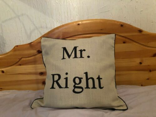 Wedding Mr Right /& Mrs Always Right Pillow Case Cushion Cover Perfect Gift