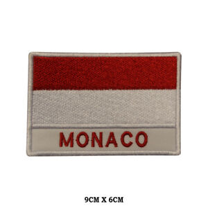 MONACO-National-Flag-Embroidered-Patch-Iron-on-Sew-On-Badge-For-Clothes-etc