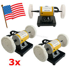 3 USA Mini Polisher Polishing Machine Dental Lathe Bench Buffing Grinder Jewelry
