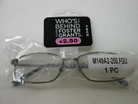 Foster Grant Reading Glasses +2.50 Frame Dni Who's Behind Those Foster Grants??
