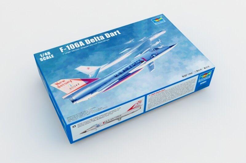 02891 Trumpeter Warplane F-106A Delta Dart Interceptor Fighter Static Model 1/48
