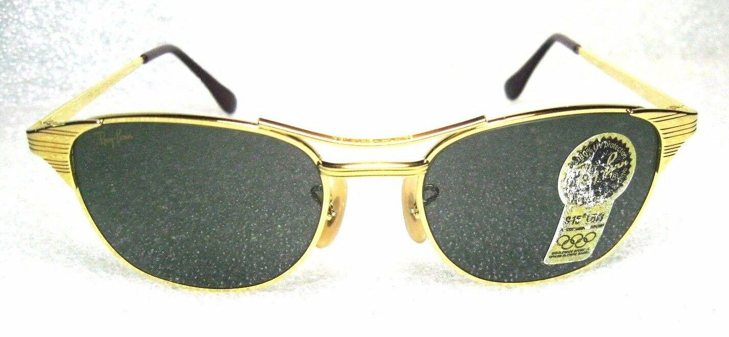 6aa43db171 Ray-Ban USA NOS Vintage B l W0386 Classic Metals Signet 24kgp G15 ...