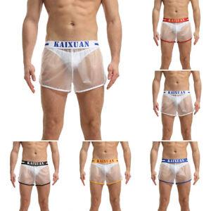 PVC Boxer Slips Unterwäsche Transparent Beulentasche Badehose Unterhose
