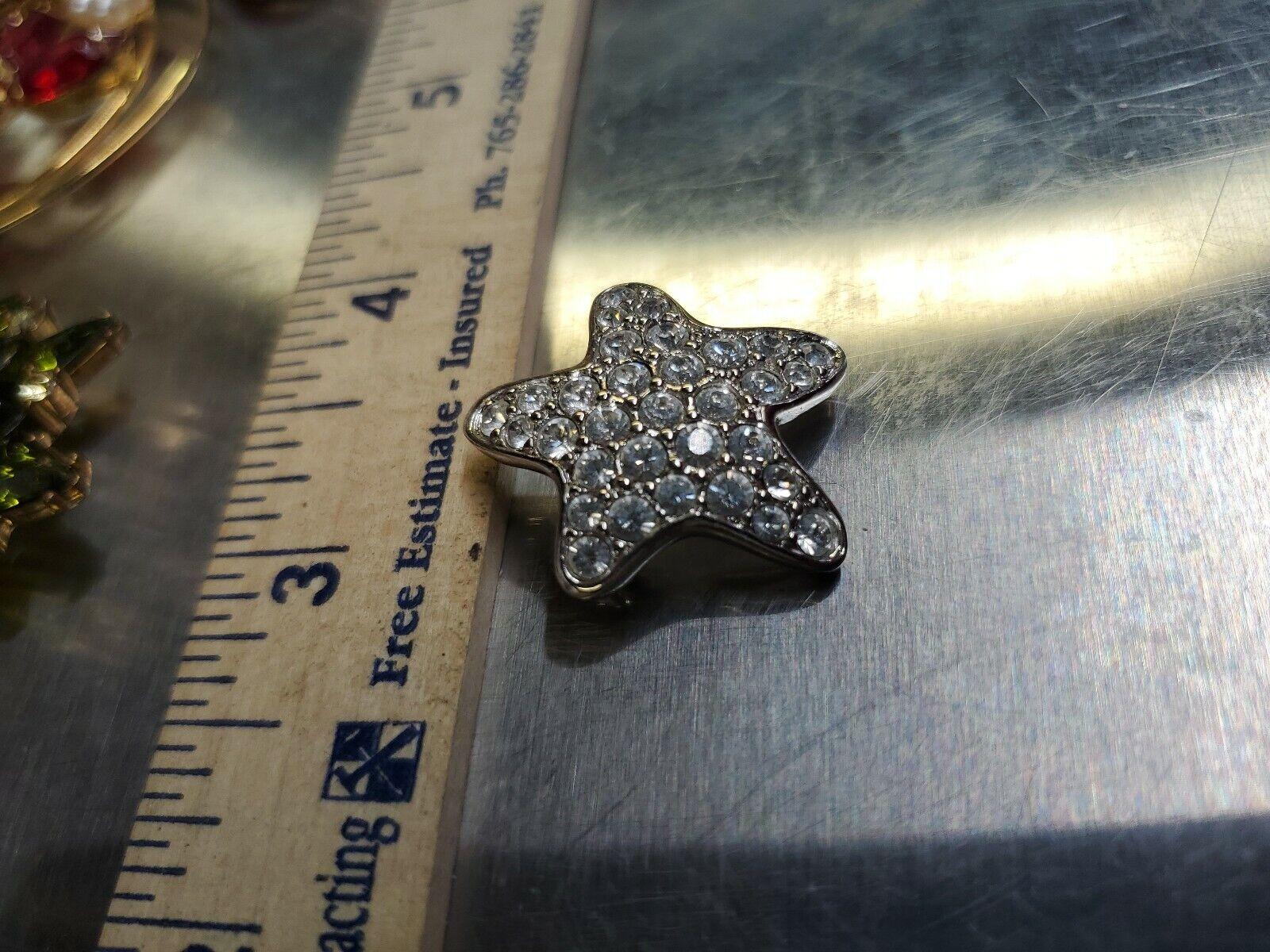 Swarovski crystal Brooch Silver Tone Star Super P… - image 2