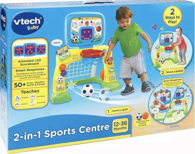 VTech 2-in-1 Sports Centre, Baby Interactive Toy with Colours and Sounds