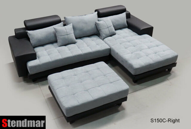 Admirable 3 Piece Modern Fabric Sectional Sofa Set S150Clbg Machost Co Dining Chair Design Ideas Machostcouk