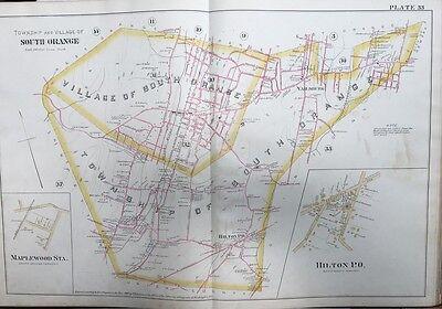 1890 ESSEX COUNTY NJ SOUTH ORANGE LAWN TENNIS CLUB SETON HALL COLLEGE ATLAS MAP
