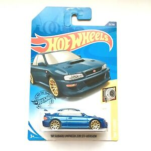Hot-Wheels-039-98-SUBARU-IMPREZA-22B-STi-Blue-2019-HW-Turbo-1-5-034-GHB42-034-Brand-NEW