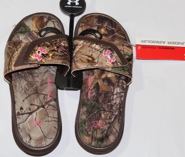 0638f241680d Under Armour Women s 1252542-200 UA Ignite Camo VII Sandal Size 6 ...