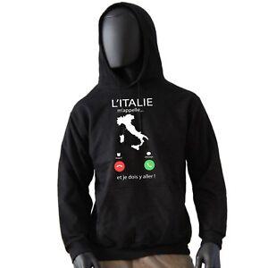 sweat capuche homme italie