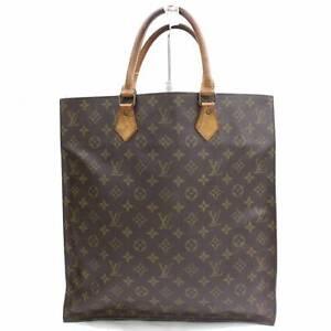c39318409718 Image is loading Louis-Vuitton-Brown-Monogram-Genuine-Leather-Sac-Plat-