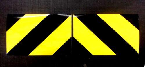 Self Adhesive Chevrons Reflective 30cmx20cm Sticker Black//Yellow