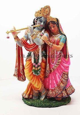 RADHA KRISHNA STATUE AVATAR OF VISHNU AND SHAKTI DIVINE LOVE MALE FEMALE ASPECTS