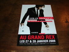 GORAN BREGOVIC - RARE FLYER GRAND REX !!!!!!!!!!!!!!
