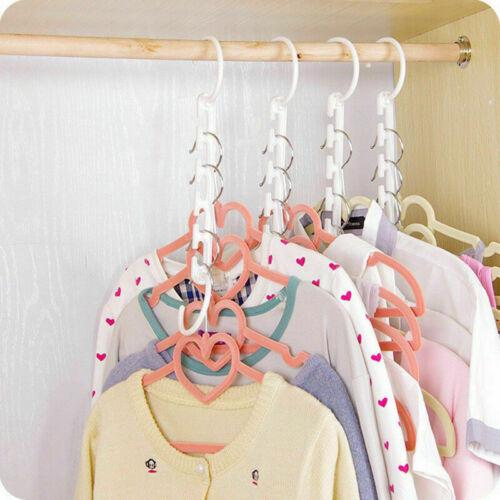 Wonder Triple Closet Hanger Space Saver Cloth Organizer Cloth Holder Magic Q1E7