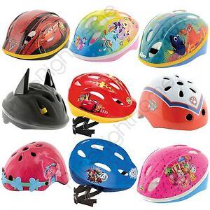 Kinder-Disney-Charakter-Sicherheit-Zyklus-Fahrrad-Helme-Peppa-Pig-PJ-Masken-amp-mehr