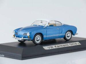 Scale-model-car-1-43-Volkswagen-Karmann-Ghia-light-blue-white