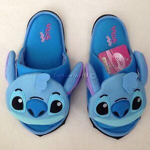 9674bcf21721 Image is loading Disney-Lilo-amp-Stitch-Plush-Slippers-Shoes-Sandal-