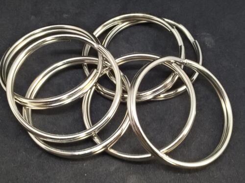split//key rings//holders sprung steel brass or stainless 64mm joint rings