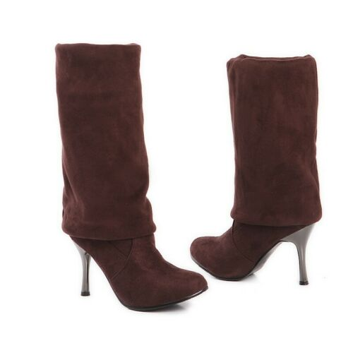Details about  /Sexy Women Suede Fabric Pull On Stilettos Over The Knee High Boots 34//43 Party B