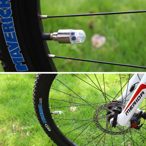 LED Wheel Tyre Light Tire Valve Cap For Bike Bicycle Car Motorcycle Lamp New KH