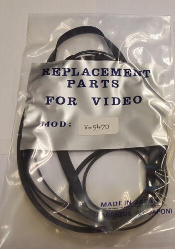 V-5470 VIDEO BELT KIT FOR TOSHIBA 7 /'/'UK COMPANY SINCE1983 NIKKO/' LOT OF 5
