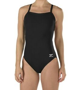 Speedo-Women-Swimwear-Black-6-32-Endurance-One-Piece-Flyback-Swimsuit-69-314