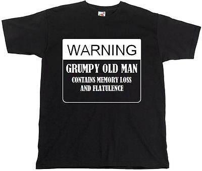 Twisted Envy Men/'s Warning Grumpy Old Git Funny T-Shirt