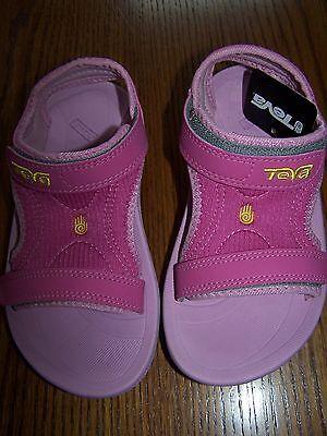 NWT TEVA Kids Dark Pink PSYCLONE 2 #6097 SANDALS BEACH SHOES SZ 12 GIRl