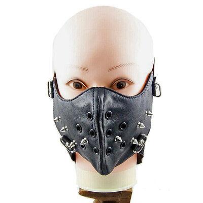 Punk Style Rivet PU Leather Face Mask Mouth Muffle Fashion Hot