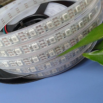 WS2811 WS2812 5050 RGB LED strip Light Waterproof Individually Addressable DC5V