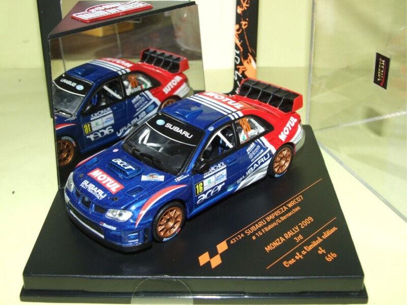 SUBARU IMPREZA WRC 07 RALLYE DE MONZA 2009 BABINI VITESSE 43134