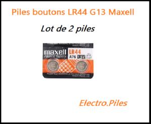 Lot-de-2-Piles-bouton-LR44-G13-de-marque-MAXELL-livraison-rapide-et-gratuite